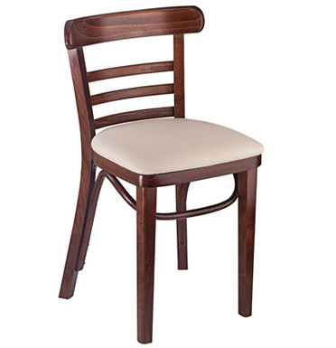 Bentwood Ladderback Restaurant Chair with Upholstered Seat