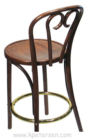 Bentwood Bar Stool Candy Cane Style