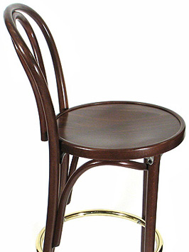 Hairpin Back Bentwood Bar Stool Wood Seat Side View
