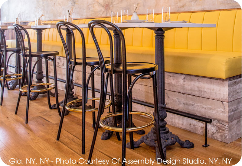 Hairpin Bentwood Bar Stool Installation