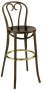 Candy Cane Bentwood Bar Stool