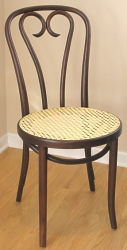Candy Cane Back Bentwood Chair With Woven Cane Seat