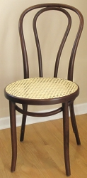 Hair Pin Back Bentwood Chair With Woven Cane Seat