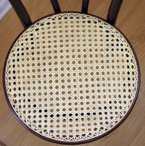 Bentwood Chair Cane Seat Detail