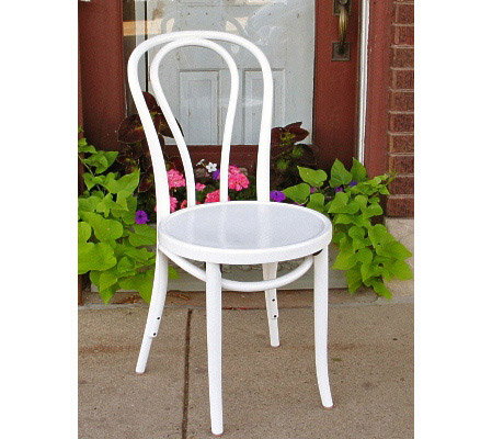 Bentwood Chair Hairpin Style White Lacquer