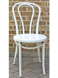 Bentwood Chair Hairpin Style White Lacquer View 2