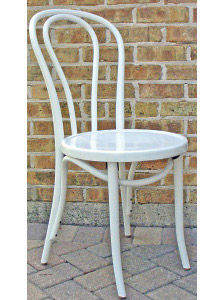 Bentwood Chair Hairpin Style White Lacquer View 3