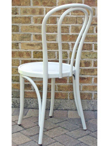 Bentwood Chair Hairpin Style White Lacquer View 5