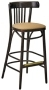 Bistro Bentwood Bar Stool Upholstered Seat
