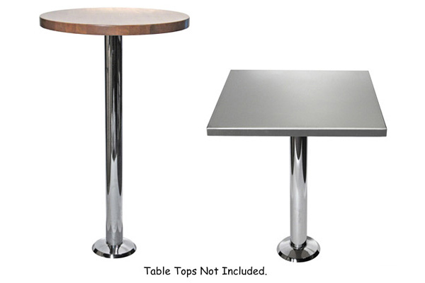 Economy Chrome Bolt Down Table Base Selections