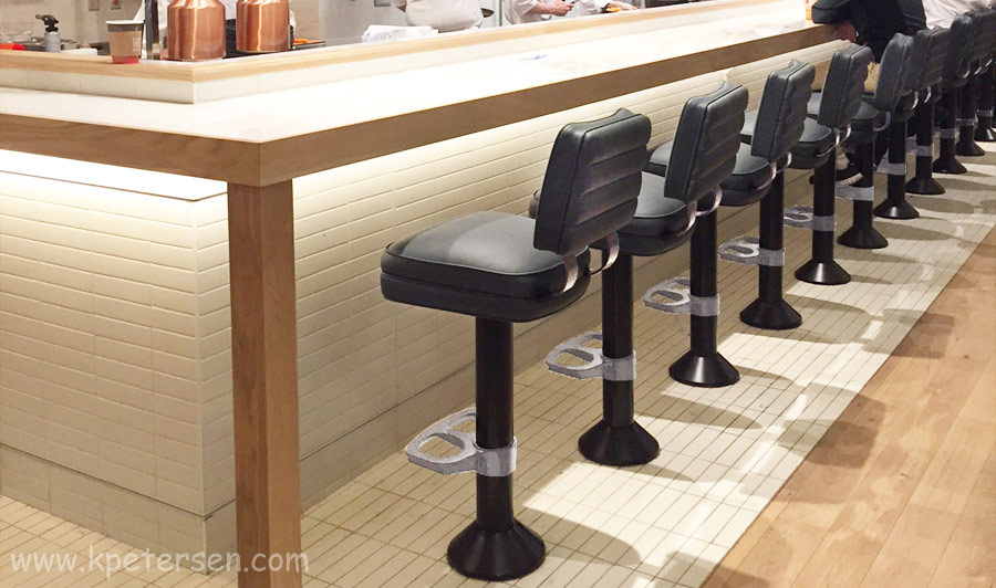 Bolt-Down Counter Stools Installation