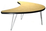 Boomerang Shaped Table with Vinyl Edge
