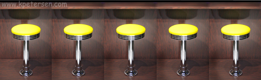 Budget Bolt Down Soda Fountain Counter Stools Line Up