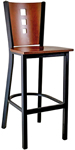 Budget Steel 3 Square Bar Stool