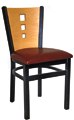Budget Steel 3 Square Restaurant Chair