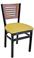 Budget Steel Restaurant Chair with Open Wood Slot Back