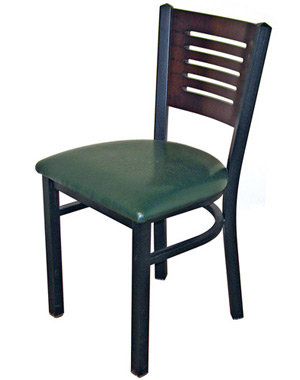 Economy Steel with Wood Slot Back Restaurant Chair