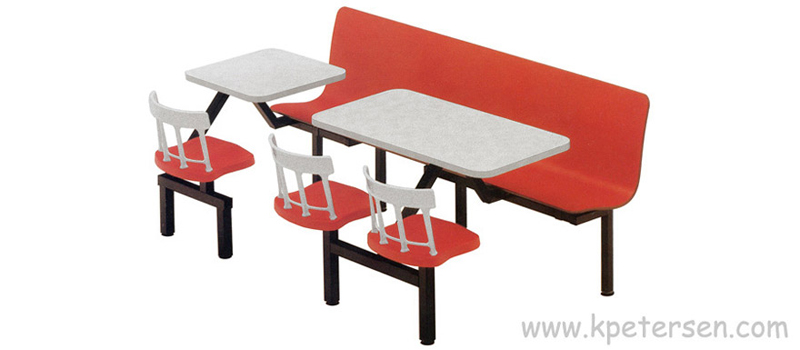 Combination Laminated Plastic Contour Seat with Cast Aluminum and Composite Cluster Seats