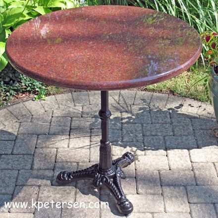 Ornate Cast Iron Tripod Table Base Installation