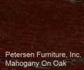 Mahogany On Oak