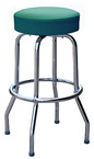 QUICKSHIP Economy Chrome Bar Stool Green Vinyl
