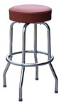 QUICKSHIP Economy Chrome Bar Stool Wine Vinyl