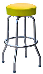 QUICKSHIP Economy Chrome Bar Stool Yellow Vinyl