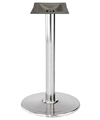Stamped Steel Round Bottom Chrome Bar Table Base 30 Inch Diameter