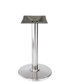 Stamped Steel Round Bottom Chrome Table Base 22 Inch Diameter