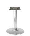 Stamped Steel Round Bottom Chrome Table Base 30 Inch Diameter