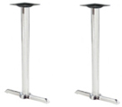 Chrome End Bar Table Bases Budget Style