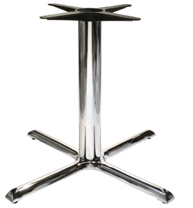 Chrome Table Base Crossfoot 36 X 36