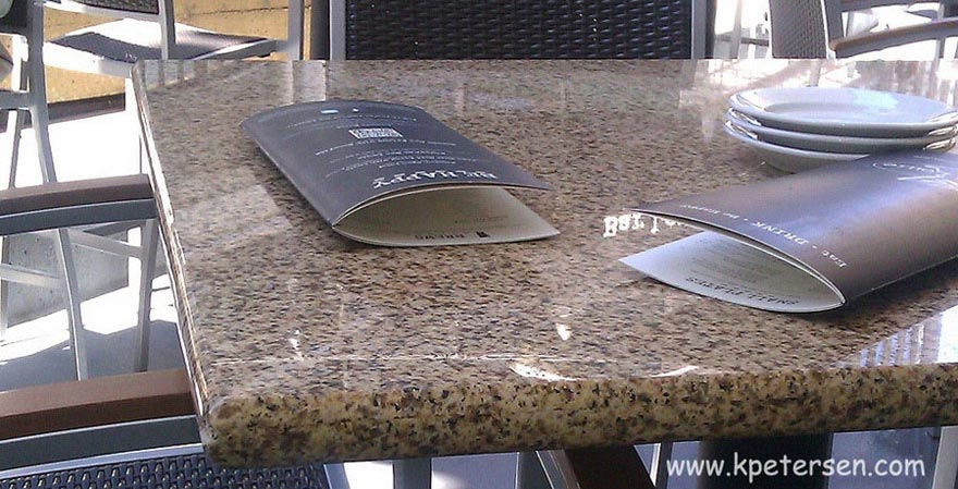 CLOSEOUT Granite Restaurant Tables Giallo Gold