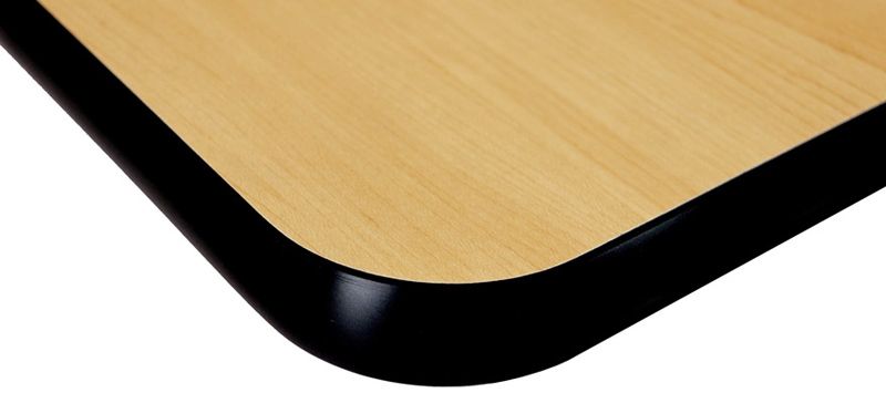Closeout Restaurant Table Top Edge Detail