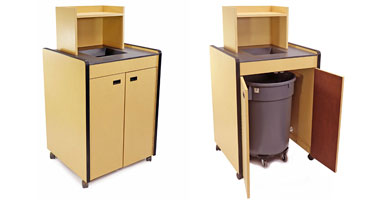 Fast Food Single Trash Receptacle Closeout