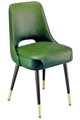 #3502 Plain Open Back Club Chair With Brass Legs