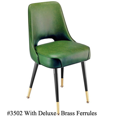 Plain Open Back Upholstered Club Chair 3502 Deluxe Ferrules