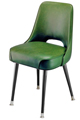 #3502 Plain Open Back Club Chair With Standard Legs
