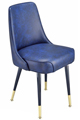 #3510 Plain Back Club Chair With Brass Legs