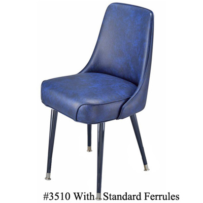 Diamond Tufted Upholstered Club Chair 3510 Standard Ferrules
