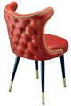 3516 Retro Nail Trim Club Chair With Brass Legs