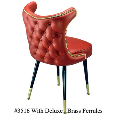 Retro Nail Trim Upholstered Back Club Chair With Deluxe Ferrules 3516