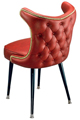 3516 Retro Nail Trim Club Chair With Standard Legs