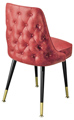 #3528 Diamond Tufted Club Chair With Brass Legs