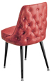 #3528 Diamond Tufted Club Chair With Standard Legs