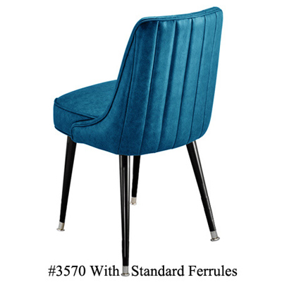 Channel Back Upholstered Club Chair 3570 Standard Ferrules