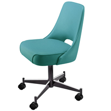Upholstered Club Chair 3602 With Casters