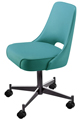 #3602 Plain Open Back Club Chair With Casters