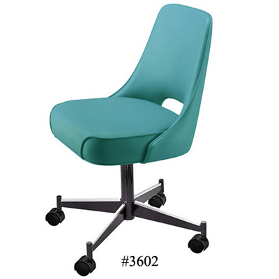 Plain Open Back Upholstered Club Chair With Casters 3602