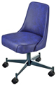 #3610 Plain Back Club Chair With Casters